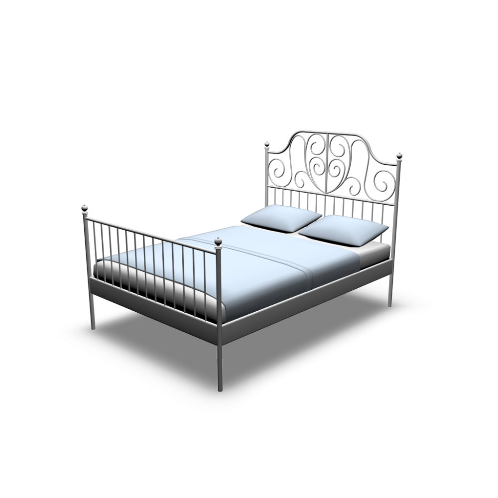 leirvik bettgestell einrichten planen in 3d. Black Bedroom Furniture Sets. Home Design Ideas