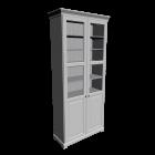 LIATORP Bücherregal mit  LIATORP Paneel-/Vitrinentür, weiß von IKEA
