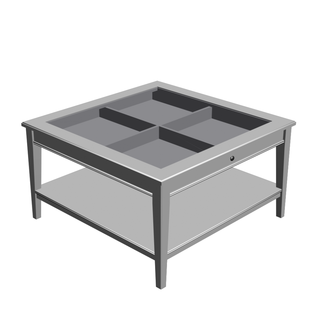 LIATORP Coffee table, white, glass  Design and Decorate