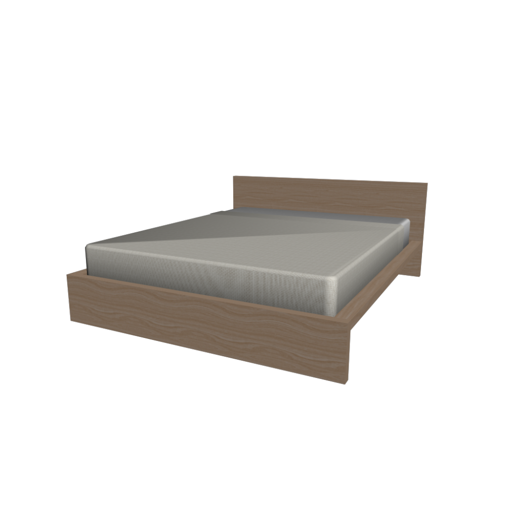 malm bed frame 160x200cm design and decorate your room in 3d. Black Bedroom Furniture Sets. Home Design Ideas