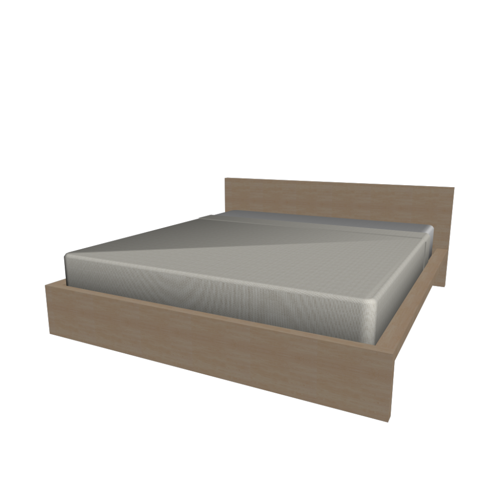 MALM bed frame 180x200cm - Design and Decorate Your Room in 3D