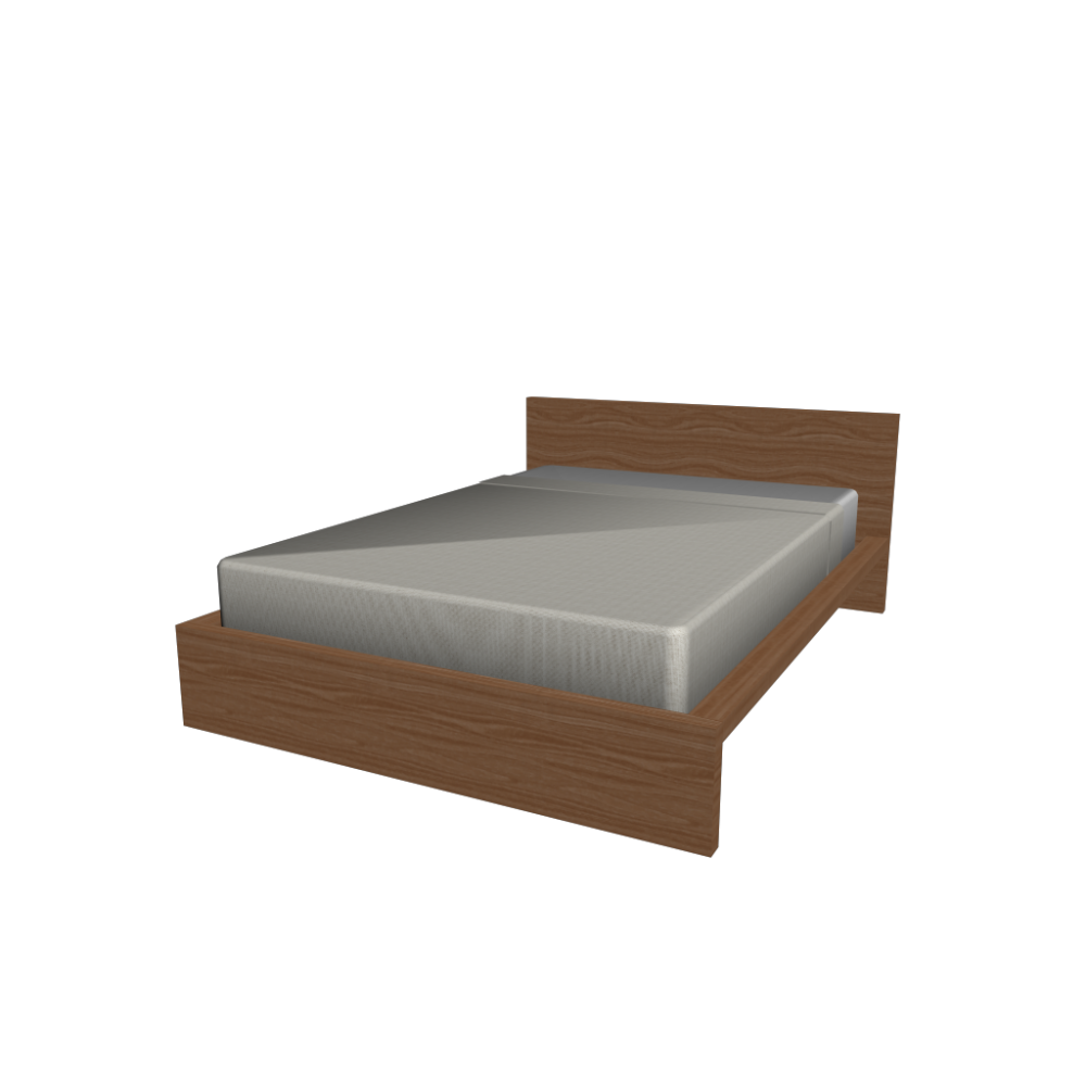MALM bed frame 140x200cm - Design and Decorate Your Room in 3D