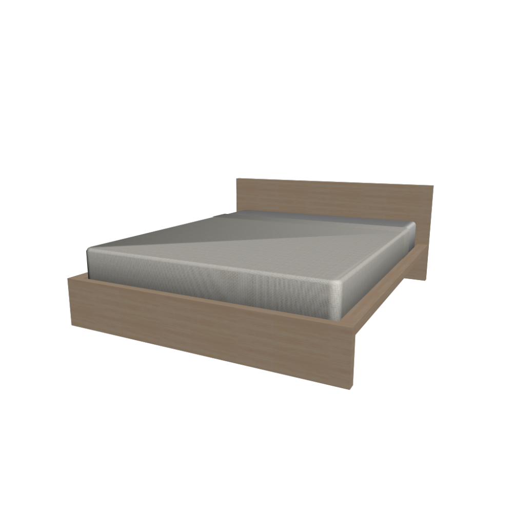 Malm Bed Frame 160x200cm Design And Decorate Your Room In 3d