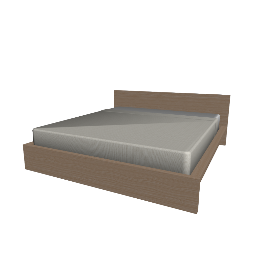 Malm Bed Frame 180x200cm Design And Decorate Your Room In 3d