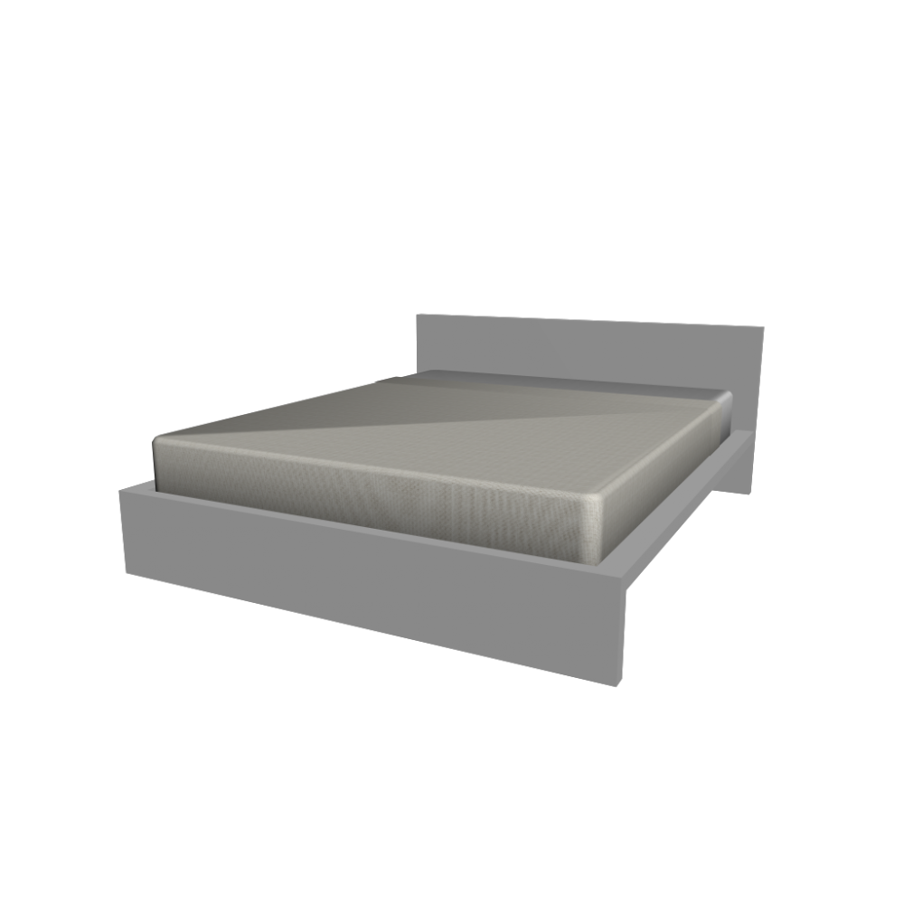 Malm bed frame 140x200cm design and decorate your room in 3d for Ikea malm bett 140x200 anleitung