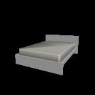 MALM Bettgestell 140x200cm weiß für die 3D Raumplanung