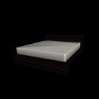 MALM Bettgestell 160x200cm schwarzbraun für die 3D Raumplanung