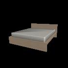 MALM Bett 160x200cm Birkenfurnier für die 3D Raumplanung