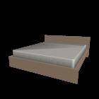 MALM Bettgestell 180x200cm Eiche weiß lasiert für die 3D Raumplanung