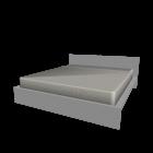 MALM Bettgestell 180x200cm weiß für die 3D Raumplanung