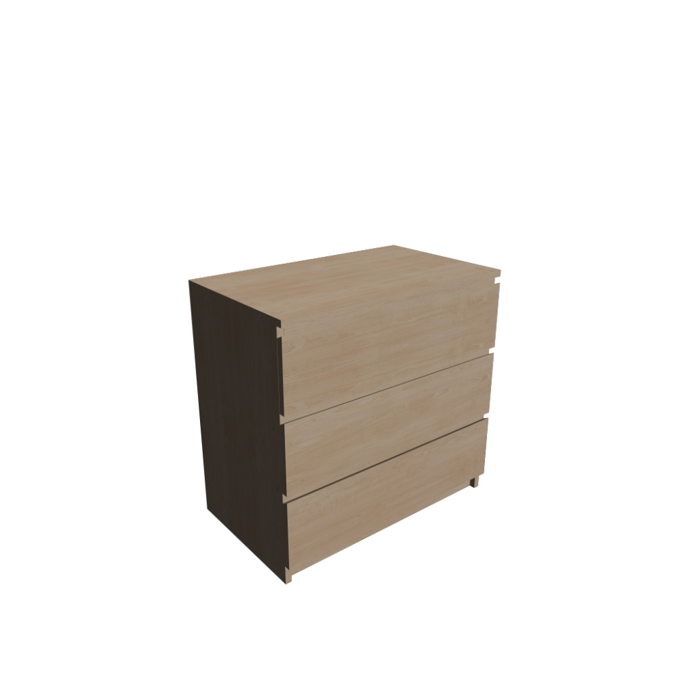 malm 3 drawer chest birch veneer design and decorate your room in 3d. Black Bedroom Furniture Sets. Home Design Ideas