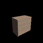 MALM Kommode mit 3 Schubladen Eiche weiß lasiert für die 3D Raumplanung