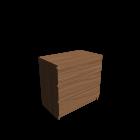 MALM Kommode mit 3 Schubladen Eichenfurnier für die 3D Raumplanung