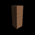 MALM Kommode mit 6 Schubladen Eichenfurnier für die 3D Raumplanung