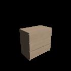 MALM Kommode mit 3 Schubladen Birkenfurnier für die 3D Raumplanung