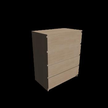 MALM Kommode mit 4 Schubladen Birkenfurnier von IKEA
