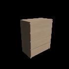 MALM Kommode mit 4 Schubladen Birkenfurnier für die 3D Raumplanung