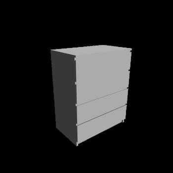 MALM Kommode mit 4 Schubladen weiß von IKEA