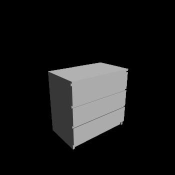 MALM Kommode mit 3 Schubladen von IKEA