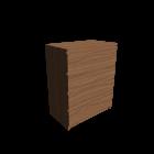 MALM Kommode mit 4 Schubladen Eichenfurnier für die 3D Raumplanung