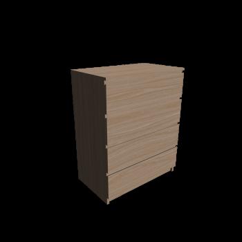 MALM Kommode mit 4 Schubladen Eiche weiß lasiert von IKEA