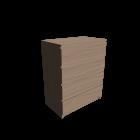 MALM Kommode mit 4 Schubladen Eiche weiß lasiert für die 3D Raumplanung