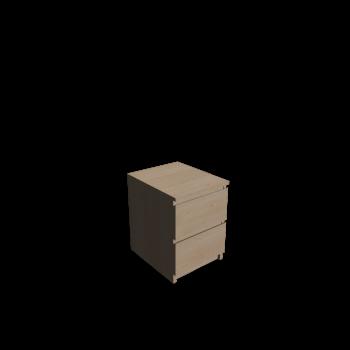 MALM Kommode mit 2 Schubladen Birkenfurnier von IKEA