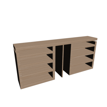 MALM Kopfteil/Ablagen 3-tlg. Eiche weiß lasiert von IKEA