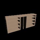 MALM Kopfteil/Ablagen 3-tlg. Eiche weiß lasiert für die 3D Raumplanung