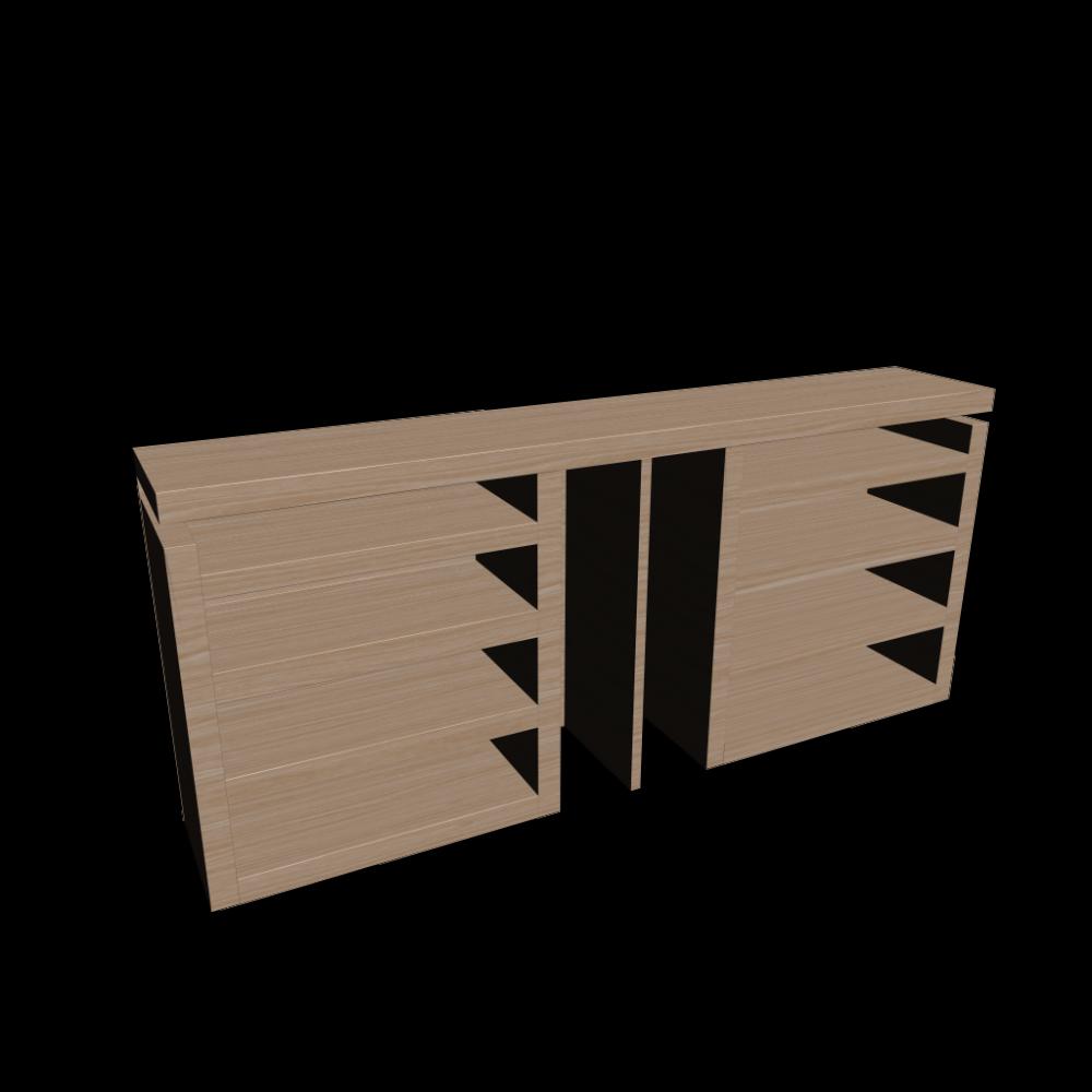 malm kopfteil ablagen 3 tlg eiche wei lasiert. Black Bedroom Furniture Sets. Home Design Ideas