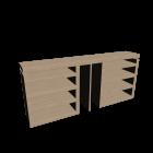 MALM Kopfteil/Ablagen 3-tlg. Birkenfurnier für die 3D Raumplanung