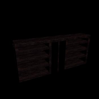 MALM Kopfteil/Ablagen 3-tlg. Eiche schwarzbraun von IKEA