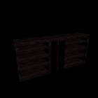 MALM Kopfteil/Ablagen 3-tlg. Eiche schwarzbraun für die 3D Raumplanung
