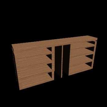 MALM Kopfteil/Ablagen 3-tlg. Eichenfurnier von IKEA