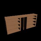 MALM Kopfteil/Ablagen 3-tlg. Eichenfurnier für die 3D Raumplanung