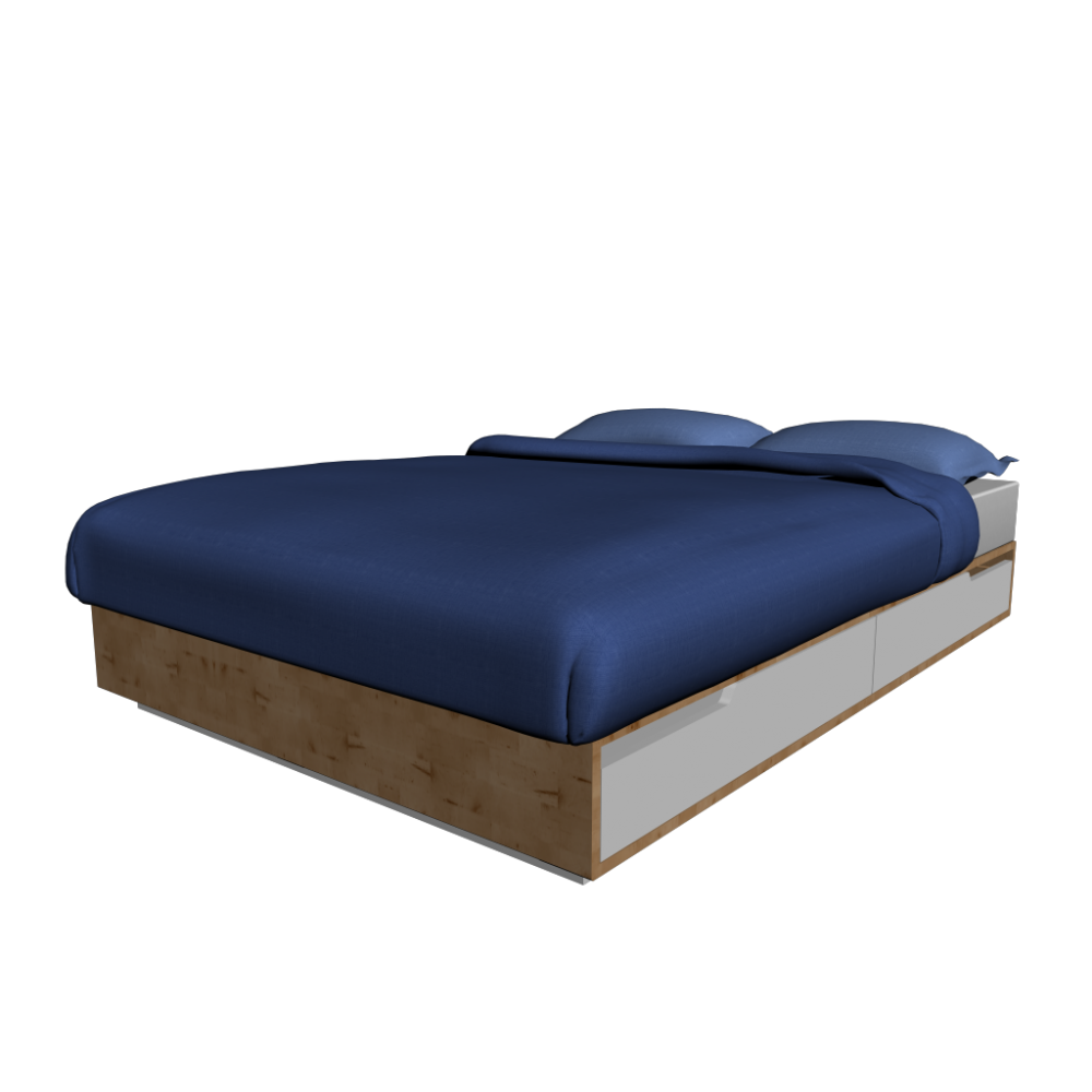 Ikea mandal storage bed review for Ikea mattress frame