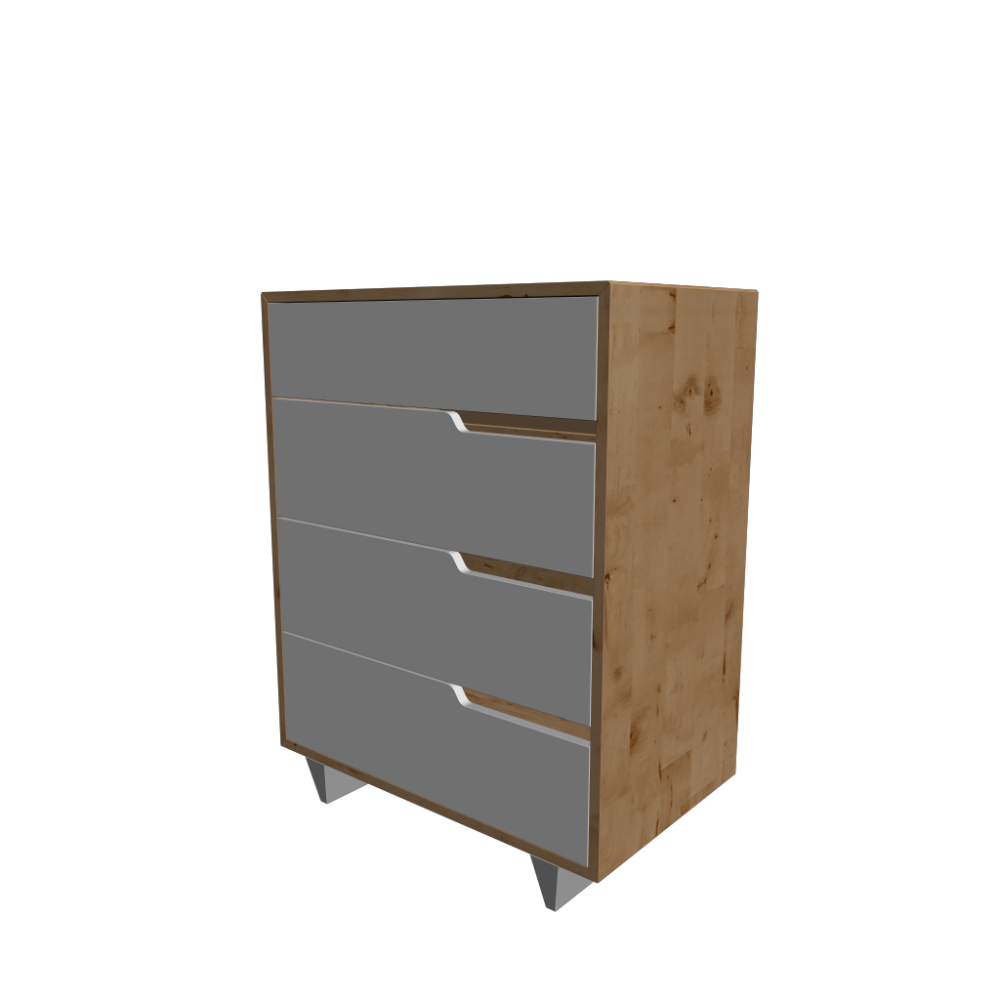 Mandal 4 Drawer Dresser Birch White Design And Decorate Your Room In 3d
