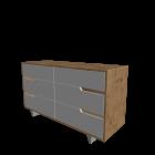 MANDAL Kommode mit 6 Schubladen von IKEA