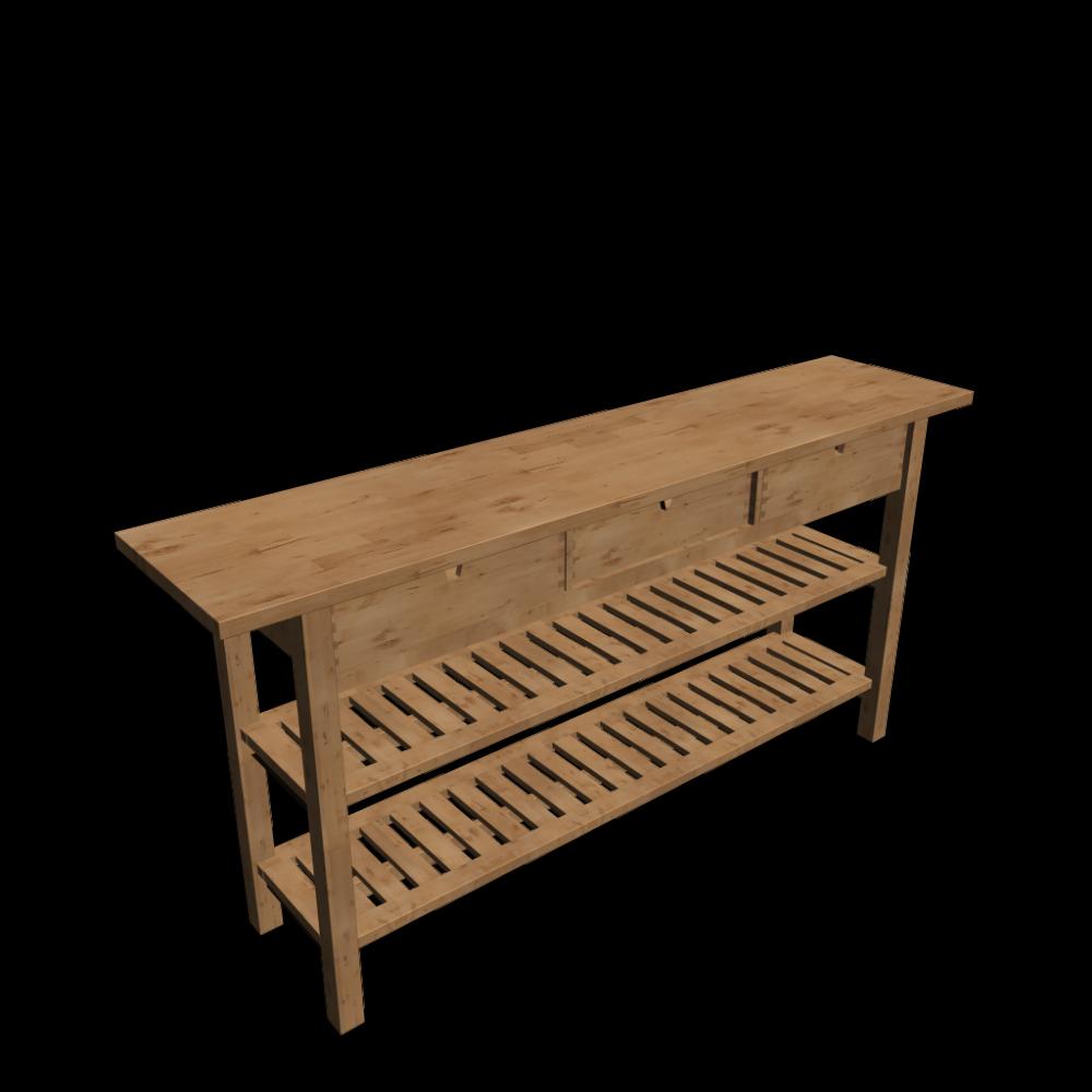 Ikea Norden Kücheninsel ~ norden ablagetisch einrichten& planen in 3d