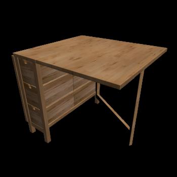 norden klapptisch einrichten planen in 3d. Black Bedroom Furniture Sets. Home Design Ideas
