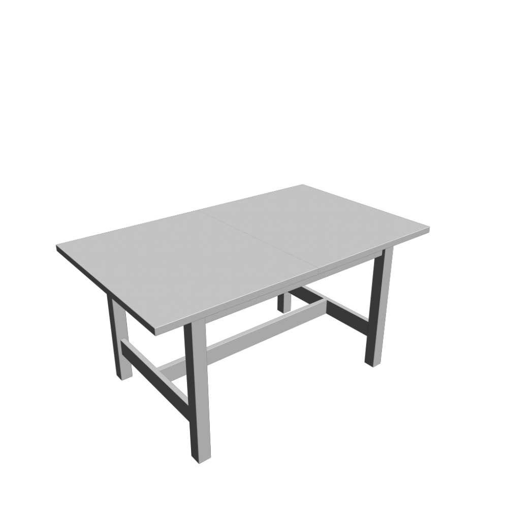 norden extendable table white design and decorate your room in 3d. Black Bedroom Furniture Sets. Home Design Ideas