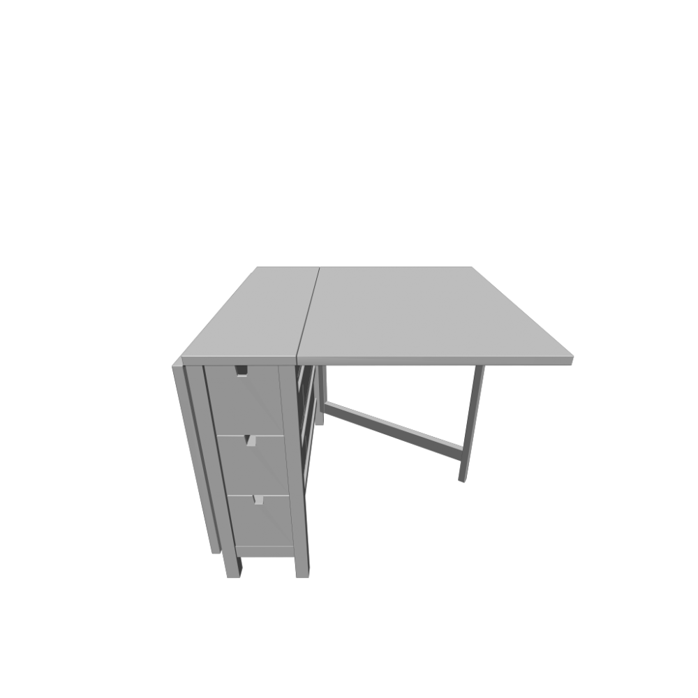norden gateleg table white design and decorate your room in 3d. Black Bedroom Furniture Sets. Home Design Ideas