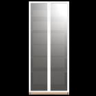 PAX Kleiderschrank mit Tür, Eichenachbildung, Drammen Glas von IKEA