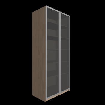 pax kleiderschrank mit t r eichenachbildung drammen glas. Black Bedroom Furniture Sets. Home Design Ideas