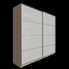 PAX Kleiderschrank mit Schiebetüren, Birkenachbildung, Lyngdal Glas von IKEA