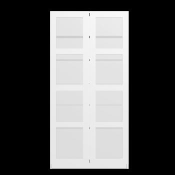 PAX Schrank mit 2 Türen, weiß, Bergsbo Frostglas von IKEA