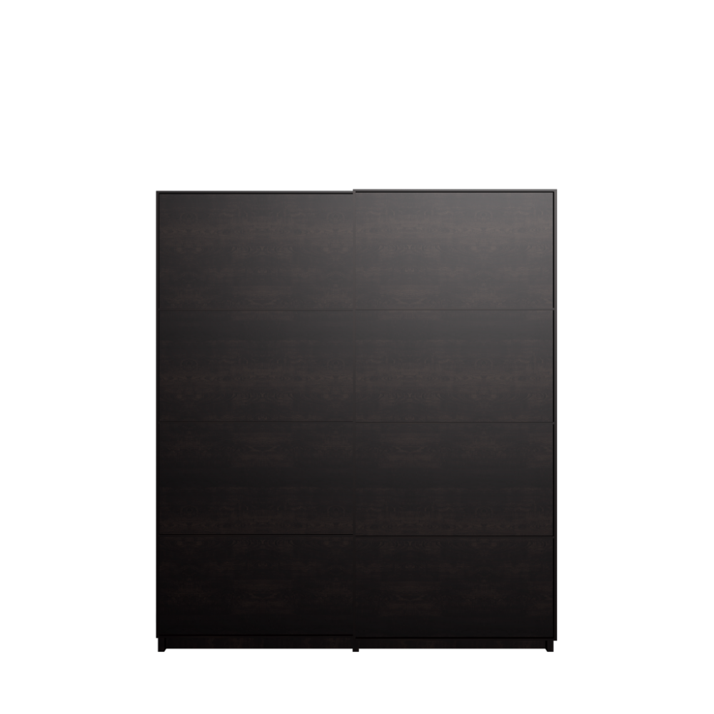 Pax wardrobe with sliding doors black brown malm black for Ikea black malm
