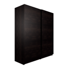 PAX Wardrobe with sliding doors, black-brown, Malm black-brown by IKEA