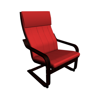 Po ng chair brown alme medium red design and decorate your room in 3d - Red poang chair ...