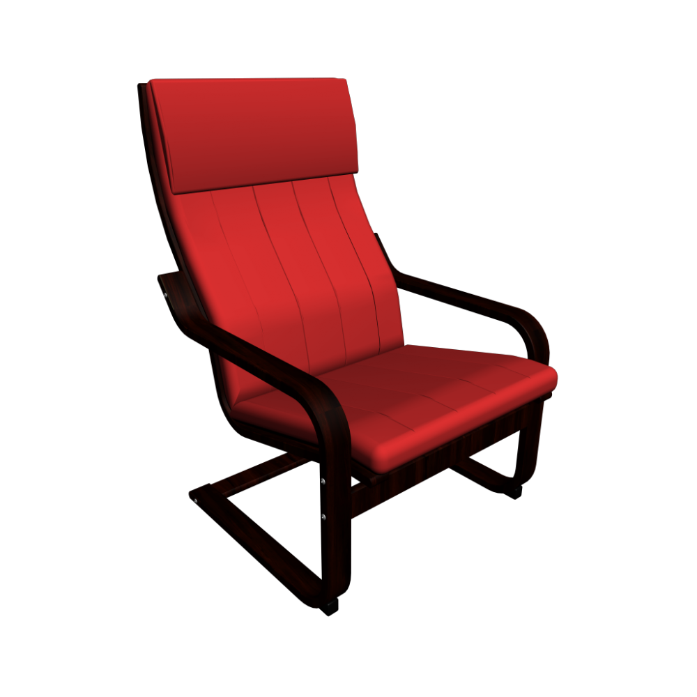 Ikea poang chair oak veneer - Red poang chair ...